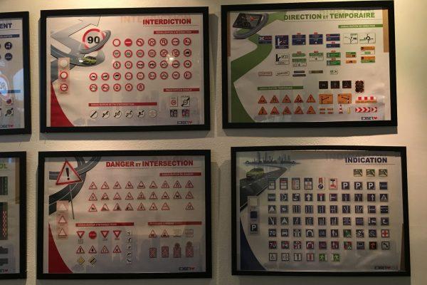 affichage code de la route
